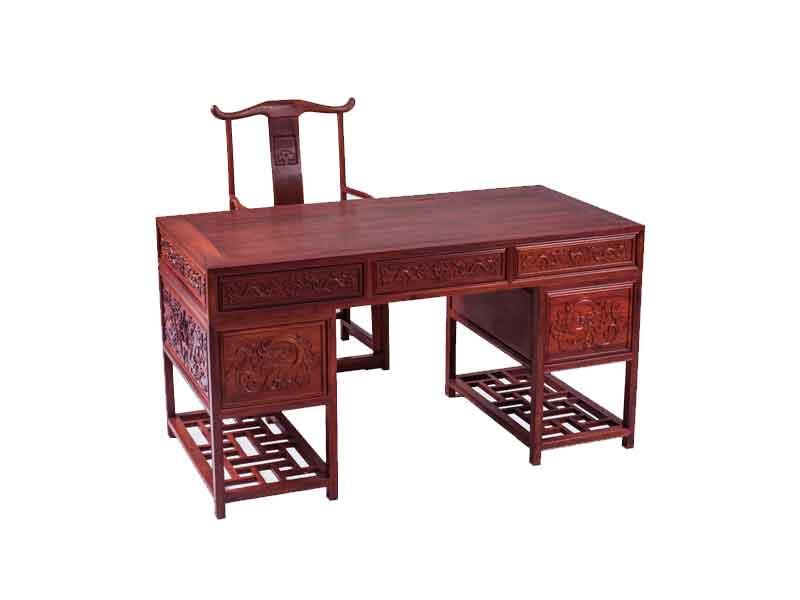万宝红缅甸酸枝1.5米办公桌