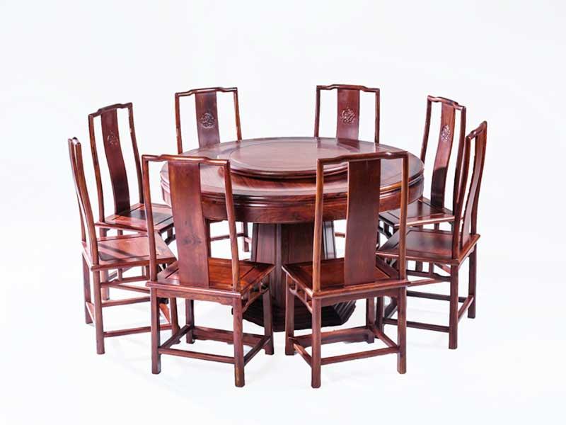 万宝红138缅甸酸枝圆台餐桌