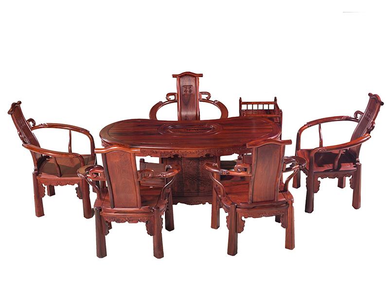 万宝红缅甸酸枝元宝茶台