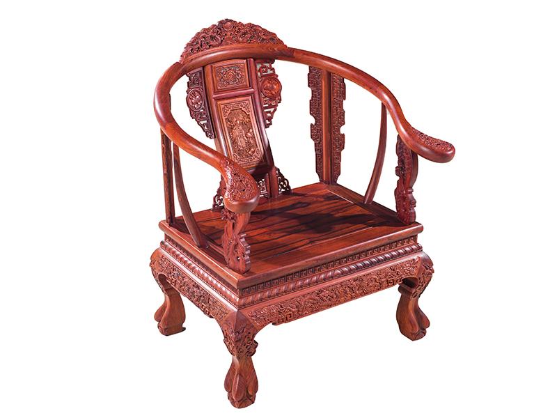 万宝红缅甸酸枝家具皇宫椅五件套