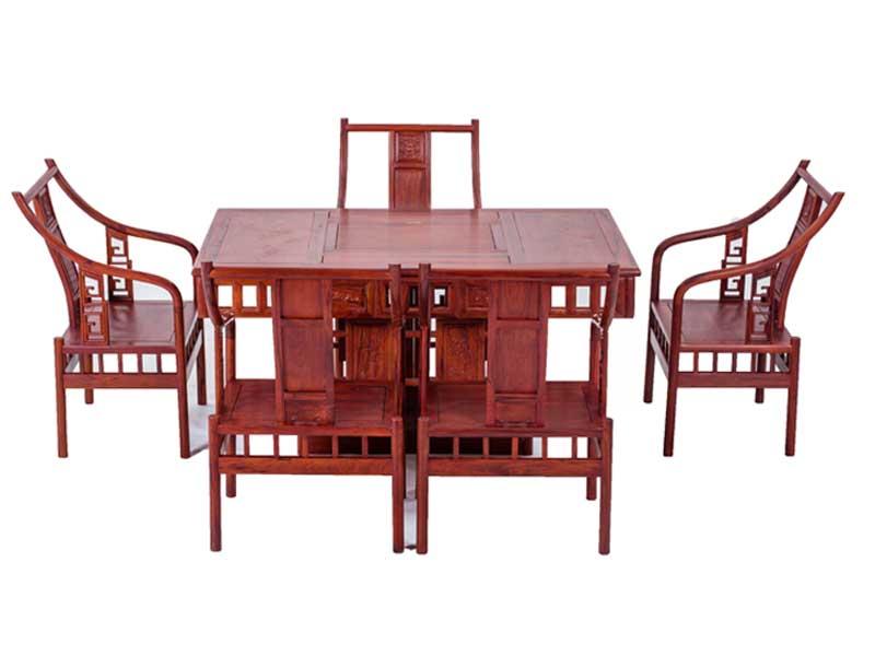 万宝红缅甸酸枝明式吉祥茶桌