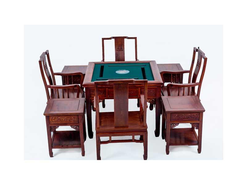 万宝红缅甸酸枝自动麻将桌