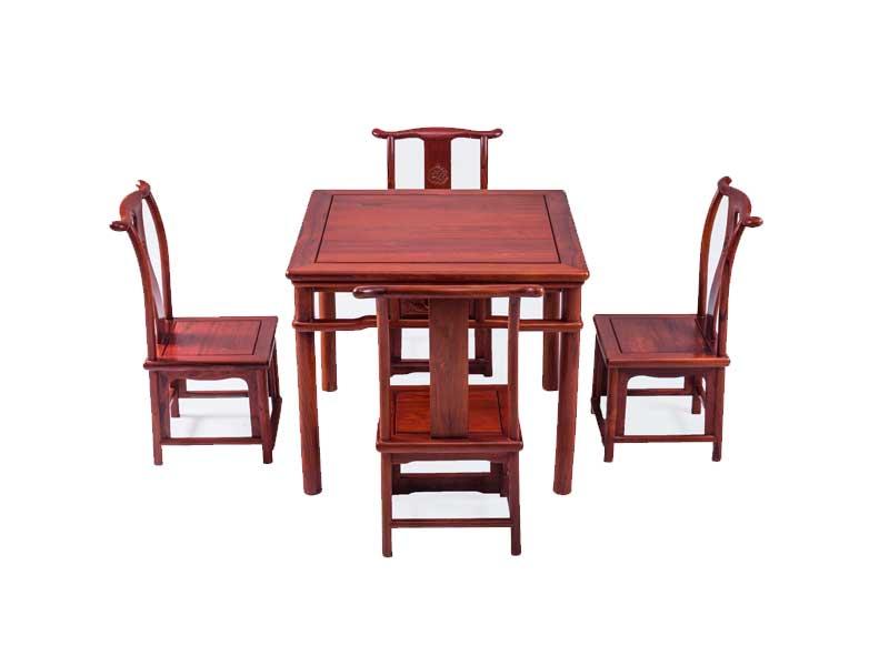万宝红缅甸酸枝小四方休闲桌