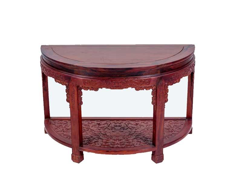 万宝红缅甸酸枝半圆桌