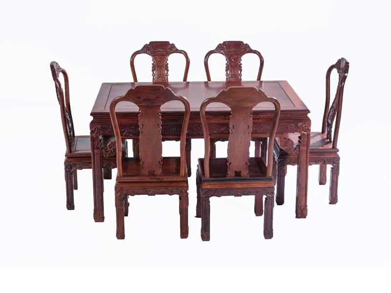 万宝红缅甸酸枝象头长方形餐桌