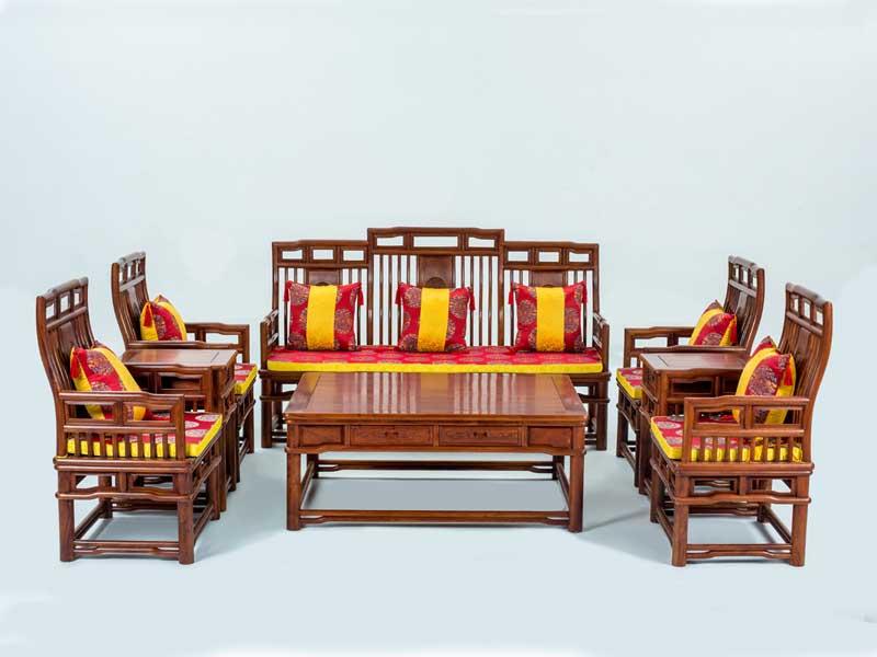 万宝红缅甸花梨明式沙发
