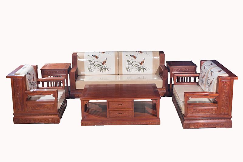 万宝红缅甸花梨新中式沙发2
