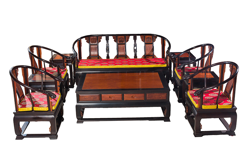 缅甸黑酸枝家具加缅甸花梨家具皇宫椅沙发十件套