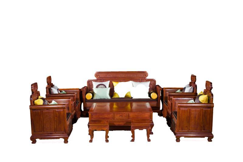 万宝红新古典缅甸花梨沙发